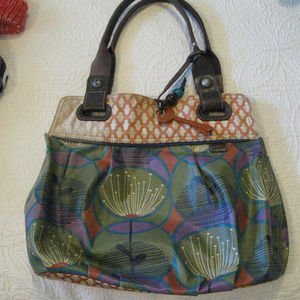 FOSSIL COVERED CANVAS TOTE 16x13.5 in*FREESHIP.